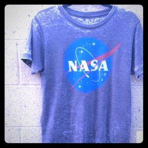 NASA Blue Grey T-shirt Size Small